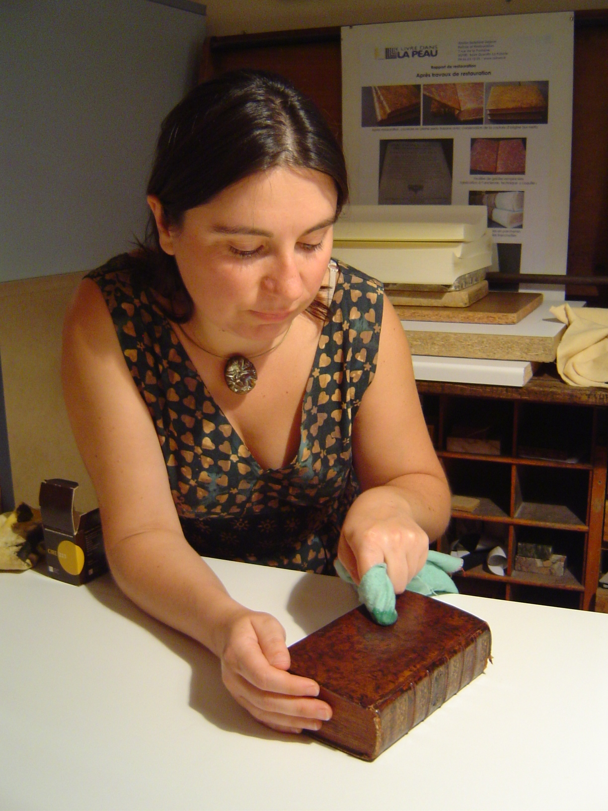delphine dejean dans son atelier